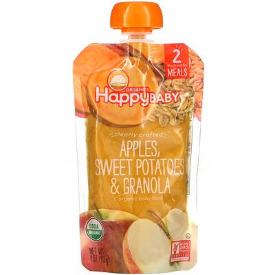 Купить Happy Family Organics Happy Baby, Organic Baby Food, Stage 2, Apples, Sweet Potatoes & Granola, 4 oz (113 g)