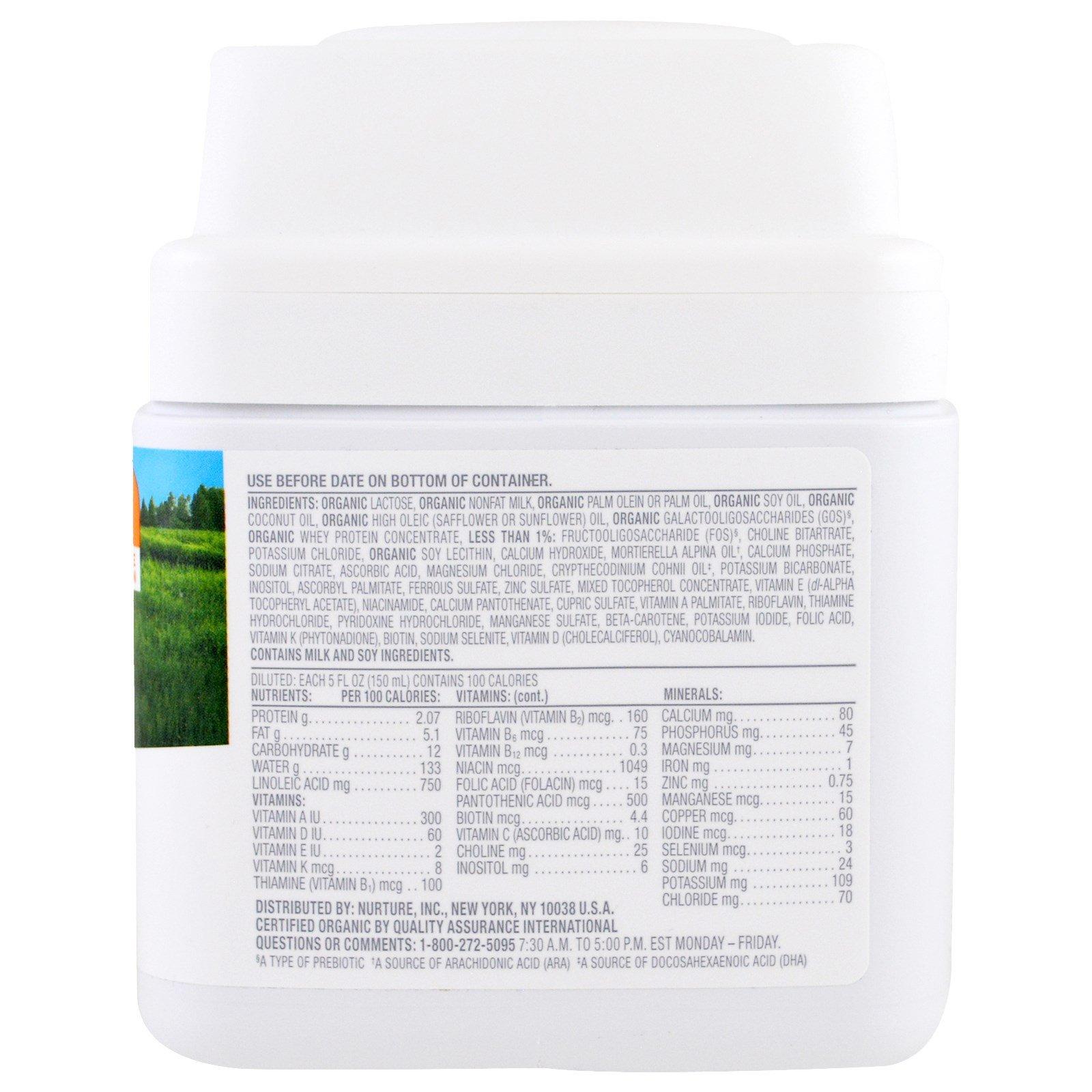 Happy Family Organics, Organics Happy Baby, Infant Formula With Iron, Stage 1, Birth to 12 Months, 21 oz (595 g)