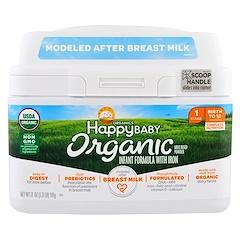 Happy Family Organics, مواد عضوية لطفل سعيد، مركب خاص بالرضع مع الحديد، المرحلة 1، من الولادة وحتى 12 شهر، 21 أونصة (595 غ)