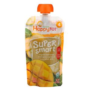 Нэйчэ Инк (Хэппи Бэби), Happy Tot, Super Smart, Fruit & Veggie Blend, Stage 4, Organic Bananas, Mangos & Spinach + Coconut Milk, 4 oz (113 g) отзывы покупателей