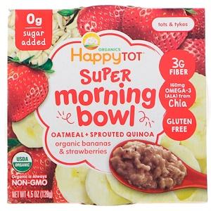 Нэйчэ Инк (Хэппи Бэби), Happy Tot, Super Morning Bowl, Oatmeal + Sprouted Quinoa, Organic Bananas & Strawberries, 4.5 oz (128 g) отзывы