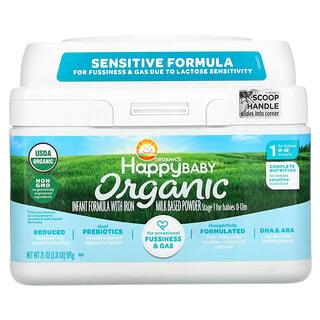 Happy Family Organics, Organics Happy Baby, Infant Formula With Iron, Stage 2, 0-12 Months, 21 oz (595 g)
