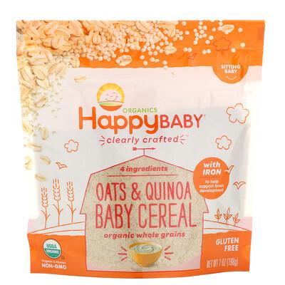 Купить Happy Family Organics Clearly Crafted, каша для детей, овсянка и киноа, 198г (7унций)
