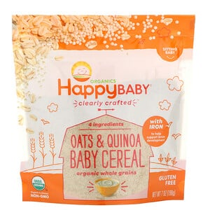 Нэйчэ Инк (Хэппи Бэби), Clearly Crafted, Oats & Quinoa Baby Cereal, 7 oz (198 g) отзывы