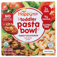 Happy Family Organics, Organics Happy Tot, Toddler Pasta Bowl, Turkey Bolognese, 4.5 oz (128 g)