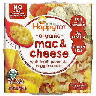 Happy Family Organics, Organics Happy Tot, 12+ Months, Mac & Cheese, 4.5 oz (128 g)