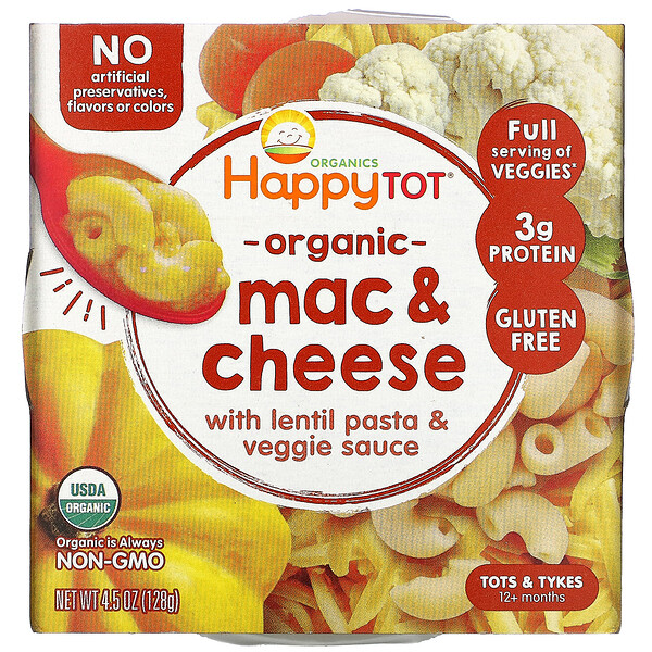 Happy Family Organics, Organics Happy Tot, 12+ Months, Mac & Cheese, 4.5 oz (128 g)