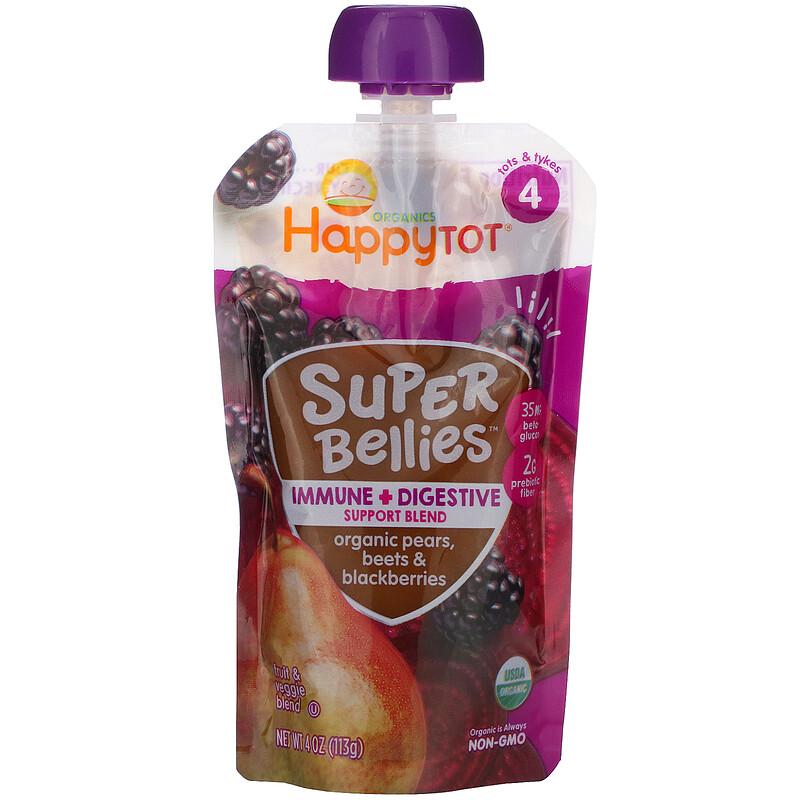 Happy Family Organics, Happy Tot,Super Bellies,有機梨、甜菜和黑莓,4 盎司(113 克)