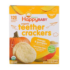 Нэйчэ Инк (Хэппи Бэби), Organic Teether Crackers, Mango & Pumpkin with Amaranth, 12 Packs, 0.14 oz (4 g) Each отзывы покупателей