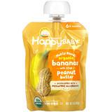 Happy Family Organics, Happy Baby,堅果混合物,6 個月以上,有機香蕉,含 0.5 茶匙花生醬,3 盎司(85 克)