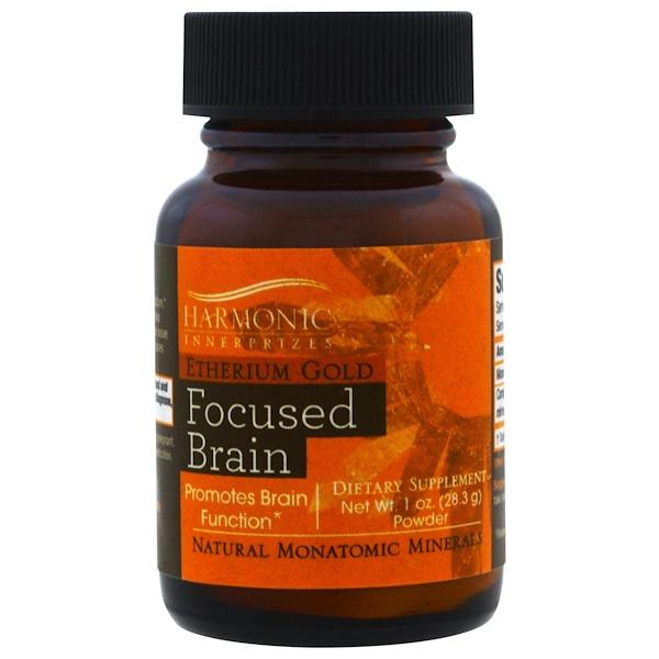Harmonic Innerprizes, Etherium Gold, Focused Brain, 1 oz Powder (28.3 g)