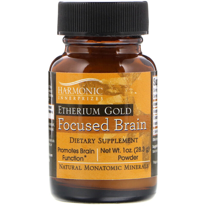 Etherium Gold, Focused Brain, 1 oz Powder (28.3 g)