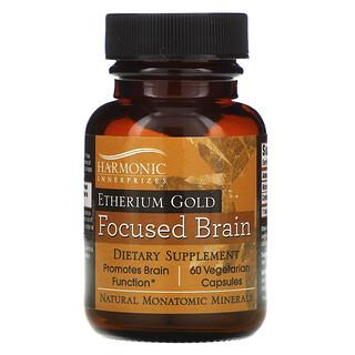 Harmonic Innerprizes, Etherium Gold, Focused Brain, 60 Vegetarian Capsules