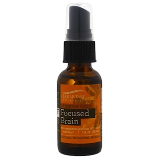 Harmonic Innerprizes, Etherium Gold, Focused Brain, 1 fl oz (30 ml)