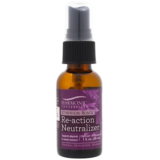 Harmonic Innerprizes, Etherium Black, Re-Action Neutralizer, 1 fl oz (30 ml)