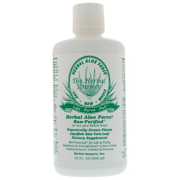 Herbal Aloe Force, Raw Purified, 32 fl oz (946 ml)
