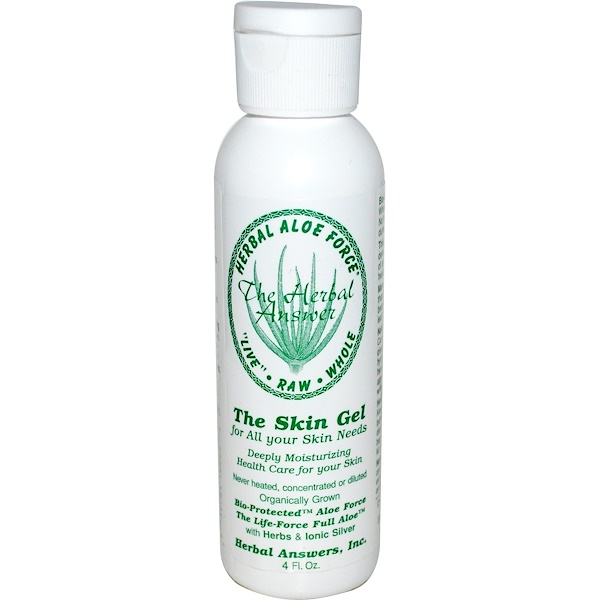 Herbal Answers, Herbal Aloe Force、スキンジェル、  4 液量オンス(120ml)