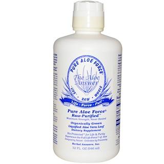 Herbal Answers, Inc, reine Aloe-Kraft, verflüssigtes Aloe Vera-Blatt, 32 fl oz (946 ml)
