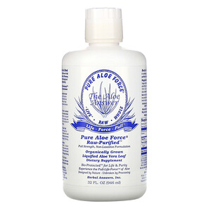 Хербал Ансверс ИНк, Pure Aloe Force, Liquified Aloe Vera Leaf, 32 fl oz (946 ml) отзывы покупателей