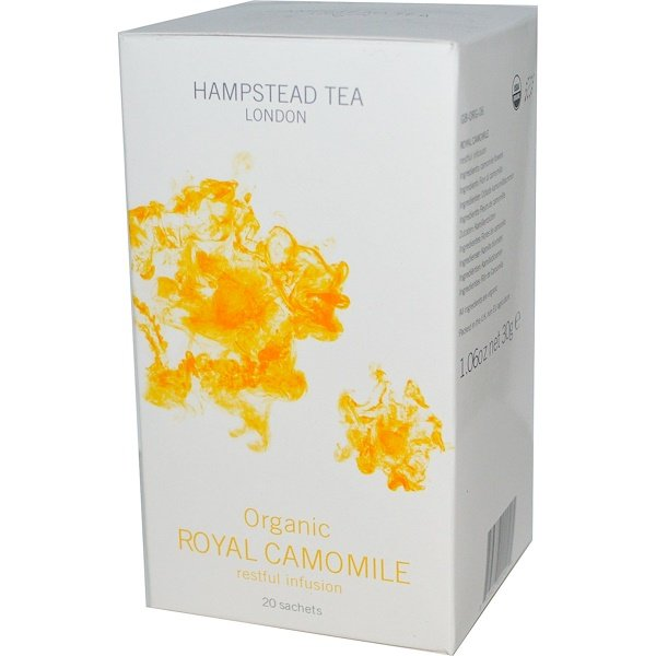 Hampstead Tea, Organic, Royal Chamomile, Restful Infusion, 20 Sachets, 1.06 oz (30 g) (Discontinued Item)