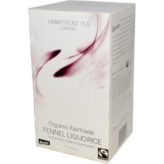 Hampstead Tea, Organic Fairtrade Fennel Liquorice, 20 Sachets, 1.06 oz (30 g)