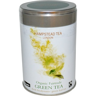 Hampstead Tea, Organic Fairtrade, Green Tea, 3.53 oz (100 g)