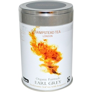 Hampstead Tea, Organic Fairtrade, Earl Grey, 3.53 oz (100 g)