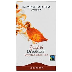Хампстед Ти, Organic Black Tea, English Breakfast, 20 Sachets, 1.41 oz (40 g) отзывы