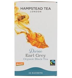 Хампстед Ти, London, Organic Black Tea, Divine Earl Grey, 20 Sachets, 1.41 oz (40 g) отзывы