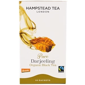 Хампстед Ти, Pure Darjeeling, Organic Black Tea, 20 Sachets, 1.41 oz (40 g) отзывы