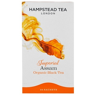 Hampstead Tea, Organic Black Tea, Imperial Assam, 20 Sachets, 1.41 oz (40 g)