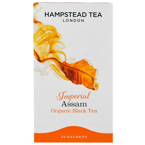 Hampstead Tea, Organic Black Tea, Imperial Assam, 20 Sachets, 1.41 oz (40 g) (Discontinued Item)