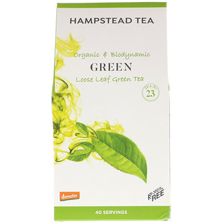 Hampstead Tea, Organic & Biodynamic, Loose Leaf Tea, Green , 3.53 oz (100 g)