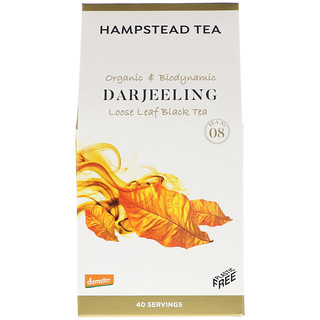 Hampstead Tea, Organic & Biodynamic, Loose Leaf Black Tea, Darjeeling, 3.53 oz (100 g)