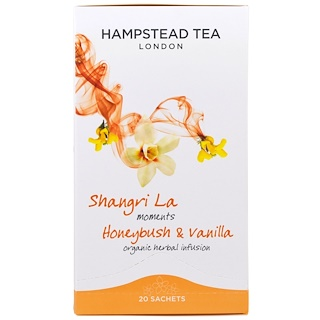 Hampstead Tea, Honeybush & Vanilla, Organic Herbal Infusion Tea, 20 Sachets, 0.88 oz (25 g)