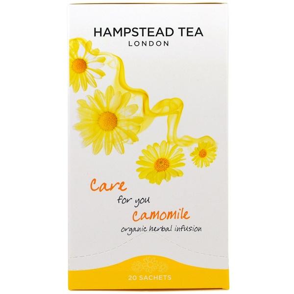 Hampstead Tea, Ромашка, органический травяной чай, 20 пакетиков, 0,88 унции (25 г) (Discontinued Item)