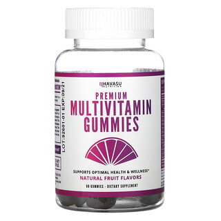 Havasu Nutrition, Premium Multivitamin Gummies, Natural Fruit Flavors,  60 Gummies