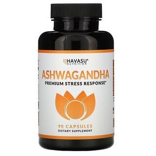 Havasu Nutrition, Ashwagandha,Premium Stress Response,90 粒膠囊
