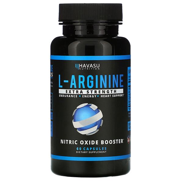 L-Arginine, Extra Strength, 60 Capsules