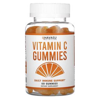 Havasu Nutrition, жевательные конфеты с витамином C, ежедневная поддержка иммунитета, 60 жевательных конфет