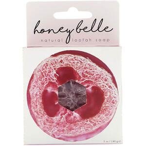 Honey Belle, Natural Loofah Soap, Rose, 5 oz (140 g) отзывы покупателей