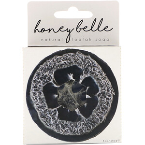 Honey Belle, Natural Loofah Soap, Charcoal Bamboo, 5 oz (140 g) отзывы покупателей