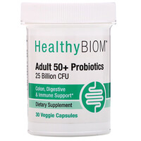 Adult 50+ Probiotics, 25 Billion CFUs, 30 Veggie Capsules - фото