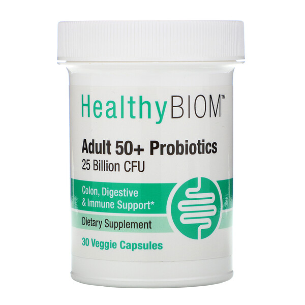 Adult 50+ Probiotics, 25 Billion CFU, 30 Veggie Capsules