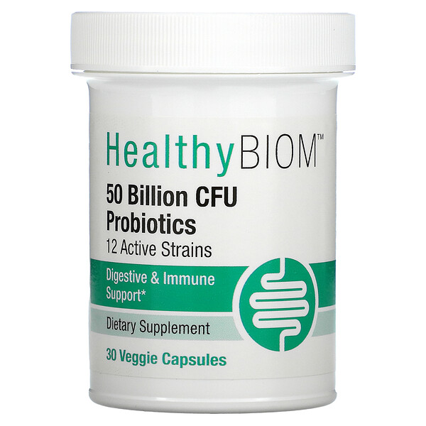 โปรไบโอติกประสิทธิภาพสูง 5 หมื่นล้าน CFU บรรจุ 30 แคปซูลทำจากพืช