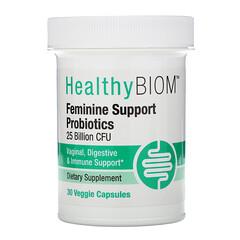HealthyBiom, Feminine Support Probiotics, unterstützendes Probiotikum für Frauen, 25MilliardenKBE, 30vegetarische Kapseln