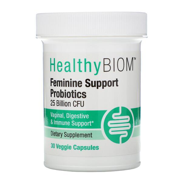 Feminine Support Probiotics, 25 Billion CFUs, 30 Veggie Capsules