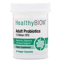 HealthyBiom, Adult Probiotics, 15 Billion CFU, 30 Veggie Capsules