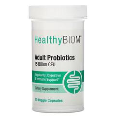HealthyBiom, פרוביוטיקה למבוגרים, 15 מיליארד יחידות יוצרות מושבה (CFU), 90 כמוסות צמחיות
