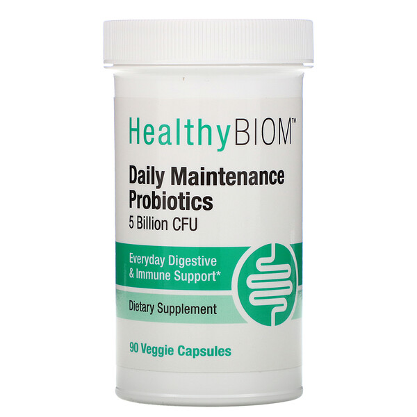 Daily Maintenance Probiotics, 5 Billion CFUs, 90 Veggie Capsules